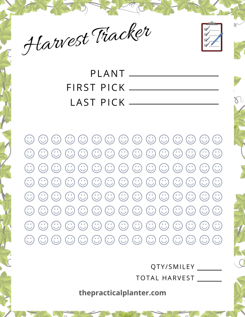 Harvest Tracker